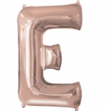 "Rose Gold Letter E Balloon - Rose Gold Letter Balloon (34"")"